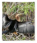 Drying Wings Fleece Blanket