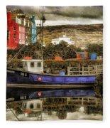 Tobermory Isle Of Mull Fleece Blanket