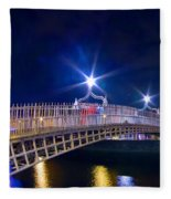 Dublin - Ha'penny Bridge  Fleece Blanket