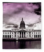 Dublin - The Custom House - Lilac Fleece Blanket