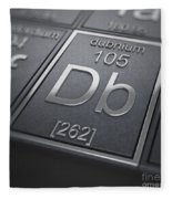 Dubnium Chemical Element Fleece Blanket