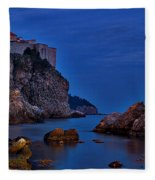 Dubrovnik Bay Fleece Blanket