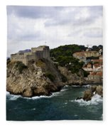 Dubrovnik In Focus Fleece Blanket