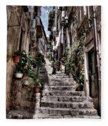 Dubrovnik Streets 6 Fleece Blanket