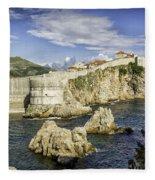 Dubrovnik Walled City Fleece Blanket