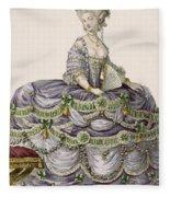 Duchess Evening Gown, Engraved Fleece Blanket