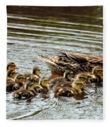 Duck Family Fleece Blanket