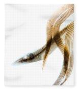 Duck Feather And Water Drops Fleece Blanket