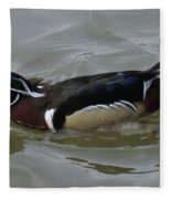 Angry Wood Duck Fleece Blanket