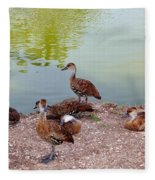 Duck Pond Fleece Blanket