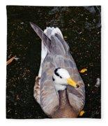 Duck Portrait Fleece Blanket