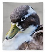 Duck Portrait Fleece Blanket