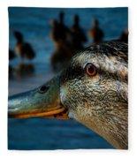 Duck Watching Ducks Fleece Blanket