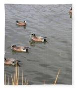 Duck With An Idea Fleece Blanket