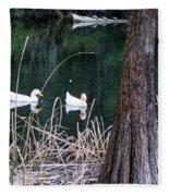 Ducks And Turtles Fleece Blanket