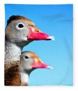 Ducks At Attention Fleece Blanket
