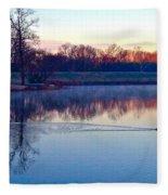 Duck's Sunrise Fleece Blanket