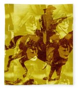 Duel In The Saddle 1 Fleece Blanket