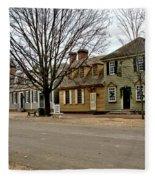 Duke Of Gloucester Street In Williamsburg Fleece Blanket