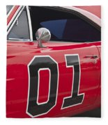 Dukes Of Hazard General Lee Fleece Blanket