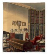 Dukes Own Room, Apsley House, By T. Boys Fleece Blanket