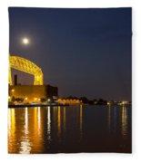 Duluth Aerial Lift Bridge Fleece Blanket