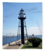 Duluth Mn Lighthouses  Fleece Blanket