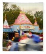 Dumbo Flying Elephants Fantasyland Signage Disneyland 02 Fleece Blanket