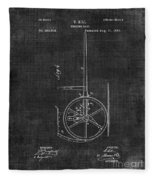 Dumping Cart Patent 011 Fleece Blanket