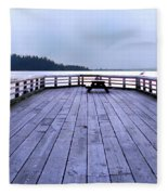West Vancouver Dundarave Triptych Centre Panel Fleece Blanket