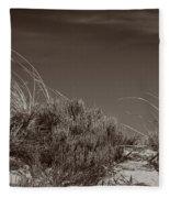 Dune And Blue Sky Fleece Blanket