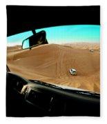 Dune Bashing In The Empty Quarter Fleece Blanket