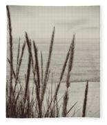 Dune Grass In Early Spring Fleece Blanket
