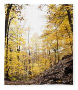 Dune Land Forest Fleece Blanket