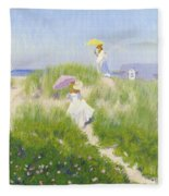 Nantucket Dune Pass  Fleece Blanket