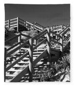 Dune Steps 04 Fleece Blanket