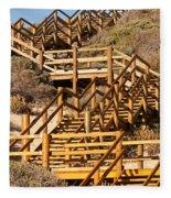 Dune Steps 06 Fleece Blanket