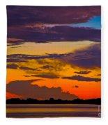 Dunedin Causeway Sunset Fleece Blanket