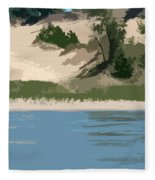 Dunes Of Lake Michigan Fleece Blanket
