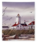 Dungeness Lighthouse Fleece Blanket