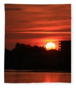 Dunlawton Sunrise Fleece Blanket