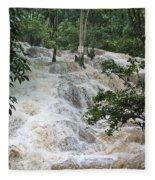 Dunns River Falls 2 Fleece Blanket