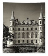 Dunrobin Castle Scotland Fleece Blanket