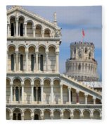 Duomo And Campanile Fleece Blanket