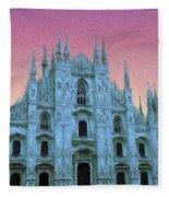 Duomo Di Milano Fleece Blanket