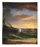 Durand's The Stranded Ship Fleece Blanket