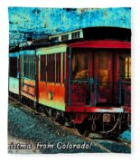 Durango Colorado Christmas Fleece Blanket