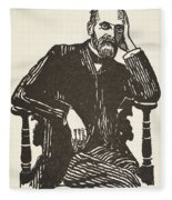 Emile Durkheim Fleece Blanket
