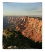 Dusk At The Canyon Fleece Blanket