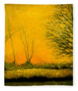 Dusk At The Refuge Fleece Blanket